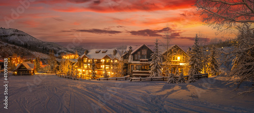 Fotografia Ski resort in the Rocky Mountains