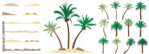 Canvas Palm trees, constructor kit