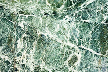Closeup Of Green And White Marble Stone
