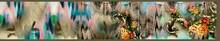 Digital Textile Saree Design And Colourfull Background