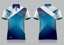 Jersey Badminton Polo Shirt Design, For Uniform Team Front And Back