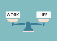 Work-life Balance Concept- Vector Illustration