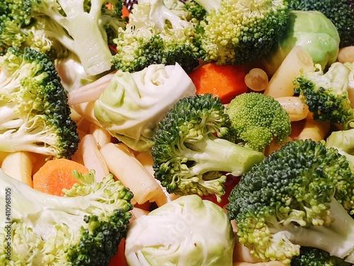Fototapeta Close-up Of Chopped Vegetables obraz