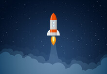 Rocket Takes Off Into Outer Space