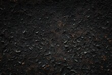 Black Cracked Paint Background