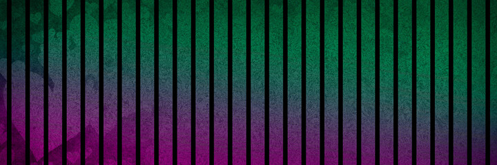 Abstract gradient purple green background with transparent hearts and vertical black stripe