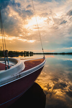 Small Sailboat Sunset