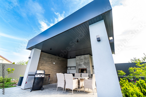 Summer house or alcove in a yard of a house Fototapeta