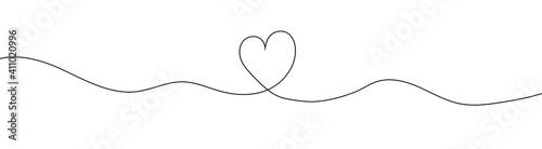 Slika na platnu Heart sketch doodle, hand drawn heart