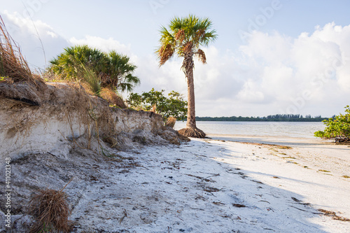 Canvastavla Landscape of Tampa Bay under the sunlight and a cloudy sky in Florida, the USA