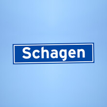 Schagen Place Name Sign In The Netherlands