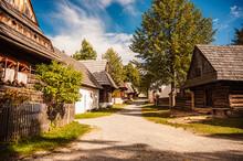 Orava Village Museum, Zuberec , Slovakia. Village Of Folk Architecture In The Natural Environment