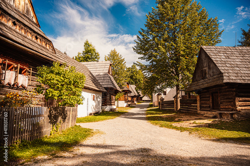 Orava village museum, Zuberec , Slovakia. Village of folk architecture in the natural environment