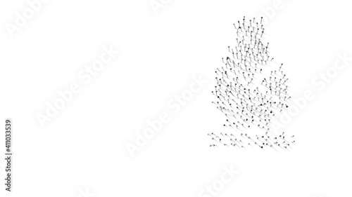 3d rendering of nails in shape of symbol of chess bishop with shadows isolated o Fototapete