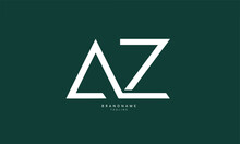 Alphabet Letters Initials Monogram Logo AZ, ZA, A And Z