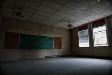 Interior Of Abandoned Classroom
