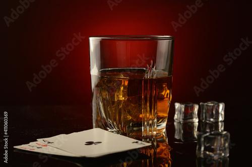 Canvas Poker Night Whiskey