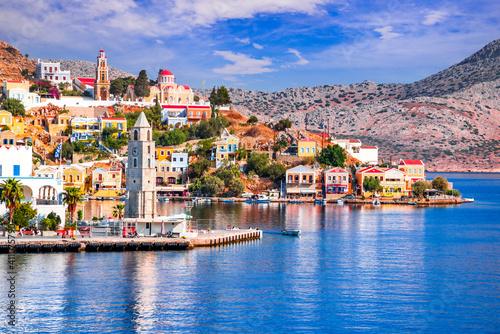Fotografia, Obraz Symi Island, Rhodes - Greek Islands