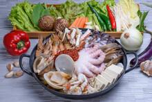 Korean Style Sea Food Stew 1 - Hae Mul Jeon Gol