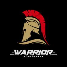 Spartan Warrior Logo Vector Illustration Design. Warriors Logo Design Template. Creative Design.