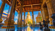 Wat Phra Kaew Is A Sacred Temple And It's A Part Of The Thai Grand Palace, The Temple Houses An Ancient Emerald Buddha