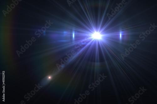 Slika na platnu Beautiful optical lens flare effect