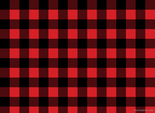 Illustration Of A Gingham With Black Plaid Patterns On A Red Background