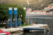 Hydrogen Filling Station For Boats At The Pier