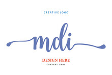 MDI Lettering Logo Is Simple, Easy To Understand And Authoritative
