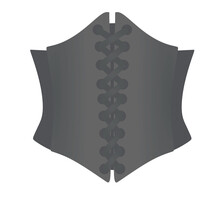 Grey Woman Corset. Vector Illustration