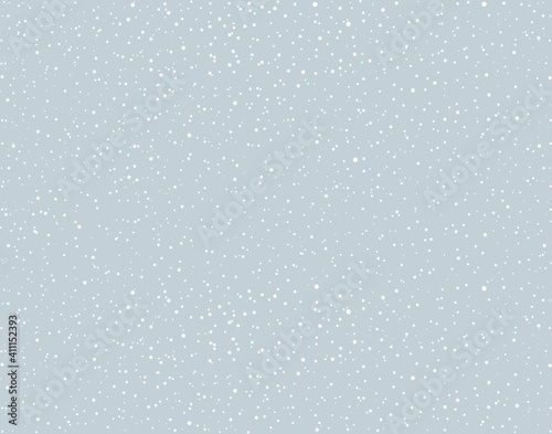 Canvas Print Snow fall. Vector drawing pattern