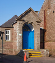 The Side Entrance Into Letham Primary School Which Used To Be The Girls Only Entrance Back In Victorian Times From When The Main Building Was Built.