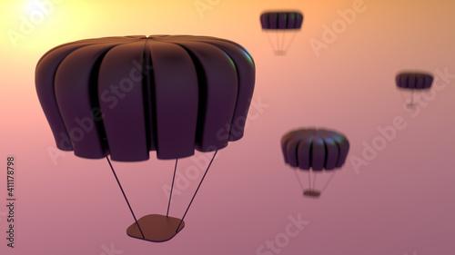 Fotografie, Obraz 3D air balloon flying