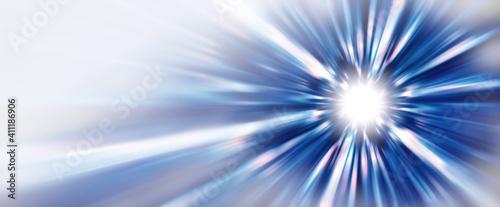 Obraz 抽象的な背景、光線、青 - fototapety do salonu