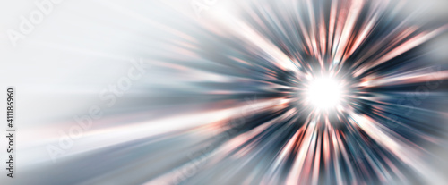 Obraz 抽象的な背景、光線、赤 - fototapety do salonu