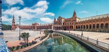 Panoramic Plaza De España, Seville