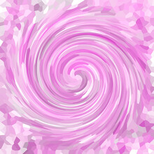 Abstract Pink Mosaic Background With Smooth Spiral