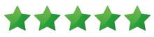 Vector Green Stars For Customer Produkt Rating On White Background