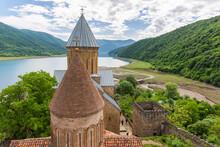 Ananuri Fortress With Orthodox Monastery In Georgia.