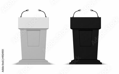 Photo Debate stage with microphones
