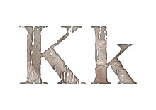 Сaked Sand Letters.Grunge Typeface.Uppercase And Lowercase Letters Isolated On White Background.