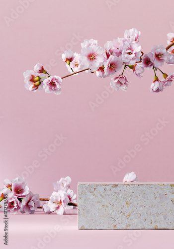 Fotografiet Minimal mockup background for product presentation