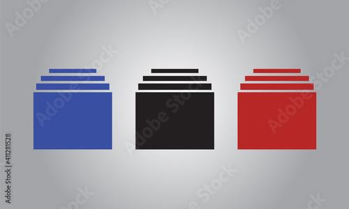 Tablou Canvas Stationery Icons Set File folder