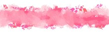 Abstract Background Pink Watercolor Texture In Valentin's Day , Beautiful Banner For Web