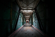 Interior Of An Abandoned Factory Tunnel