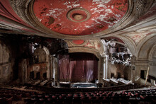 Interior View Of An Abandoned Theater