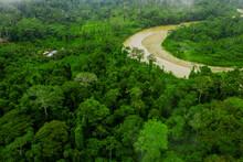 Rio Villano In The Ecuadorian Amazon Rainforest