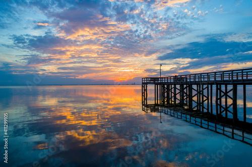 Fotografie, Obraz Mobile Bay Sunset