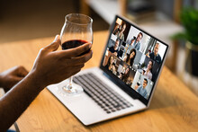 Online Video Conference Home Party Call Wine
