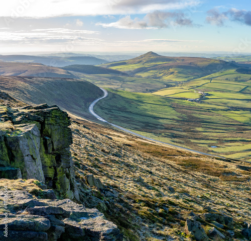 Платно View from the top of Shining Tor, a hill with a height of 559 metres above sea l